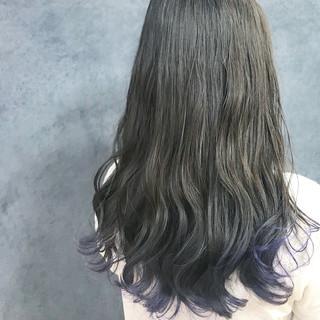 ロング 透明感カラー ガーリー ラベンダーカラー ヘアスタイルや髪型の写真・画像