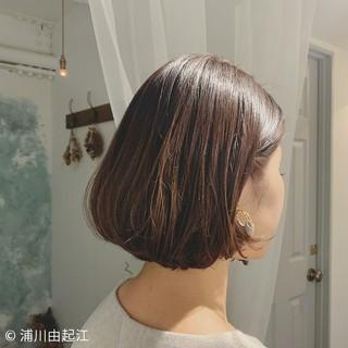 大人かわいい 春 エレガント ボブ ヘアスタイルや髪型の写真・画像