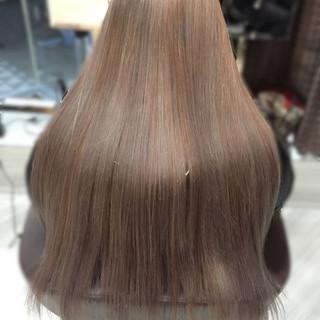 ロング ストリート アッシュベージュ ブラウンベージュ ヘアスタイルや髪型の写真・画像