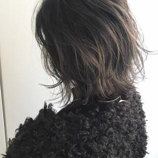 ボブ バレイヤージュ グラデーションカラー 簡単ヘアアレンジ ヘアスタイルや髪型の写真・画像