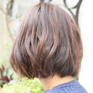 トレンド ナチュラル ボブ くせ毛風 ヘアスタイルや髪型の写真・画像