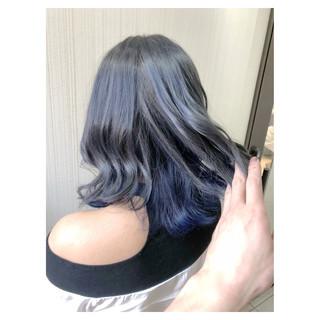 ブリーチ デート ヘアアレンジ インナーカラー ヘアスタイルや髪型の写真・画像