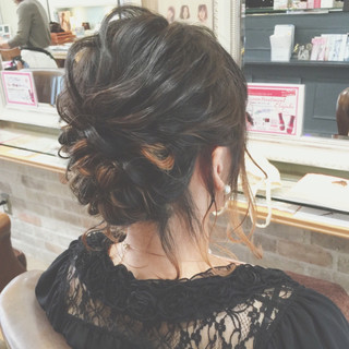 ヘアアレンジ デート ナチュラル 結婚式 ヘアスタイルや髪型の写真・画像