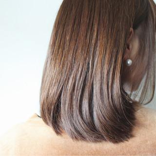 ラベンダーアッシュ ナチュラル セミロング ラベンダーピンク ヘアスタイルや髪型の写真・画像
