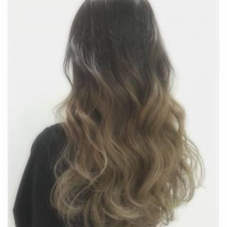 秋 外国人風 ストリート グラデーションカラー ヘアスタイルや髪型の写真・画像