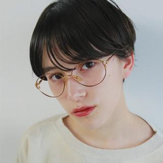 前髪パーマ ショートボブ ナチュラル ショート ヘアスタイルや髪型の写真・画像