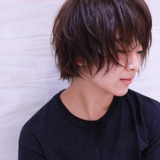 ラフ ショート 外ハネ ナチュラル ヘアスタイルや髪型の写真・画像 ヘアスタイルや髪型の写真・画像