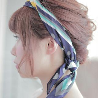 フェミニン ボブ ゆるふわ ヘアアレンジ ヘアスタイルや髪型の写真・画像