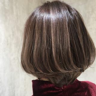 ボブ 極細ハイライト コントラストハイライト 外国人風カラー ヘアスタイルや髪型の写真・画像