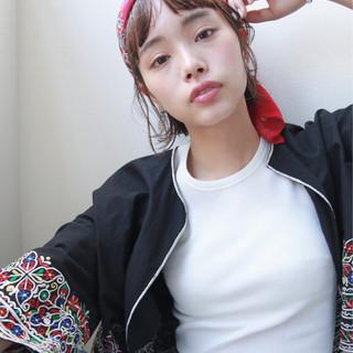 外国人風 パーマ 前髪あり ヘアアレンジ ヘアスタイルや髪型の写真・画像