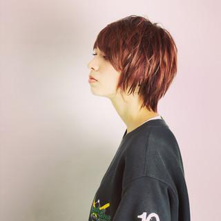 大人かわいい レイヤーカット ナチュラル ショート ヘアスタイルや髪型の写真・画像