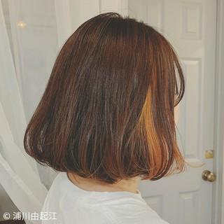 インナーカラー ボブ 大人かわいい モード ヘアスタイルや髪型の写真・画像