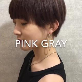 ミルクティー ハイトーンカラー ショート 外国人風カラー ヘアスタイルや髪型の写真・画像