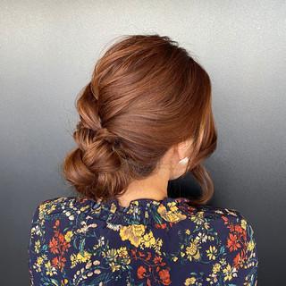 シニヨン 大人可愛い ロング ヘアアレンジ ヘアスタイルや髪型の写真・画像