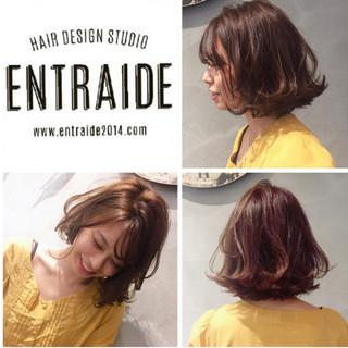 ゆるふわ フェミニン ボブ モテボブ ヘアスタイルや髪型の写真・画像