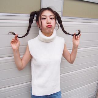 ヘアアレンジ ロング ツインテール ヘアスタイルや髪型の写真・画像