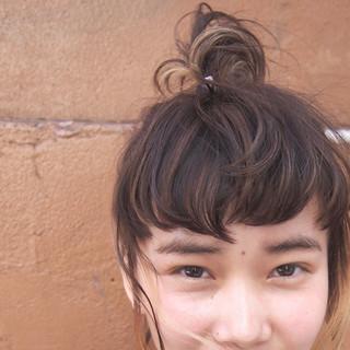 大人かわいい ハーフアップ ショート 簡単ヘアアレンジ ヘアスタイルや髪型の写真・画像