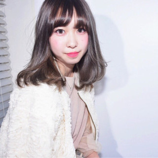ガーリー 外国人風 ハイライト 外国人風カラー ヘアスタイルや髪型の写真・画像