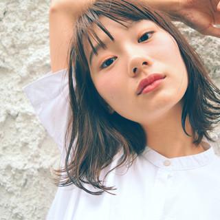 秋 外国人風 ミディアム デート ヘアスタイルや髪型の写真・画像
