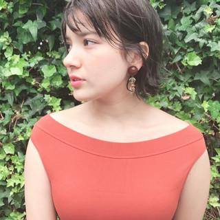 シースルーバング オリーブアッシュ 束感バング 毛束感 ヘアスタイルや髪型の写真・画像
