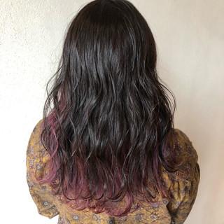 ラベンダーアッシュ バイオレットアッシュ インナーカラー ストリート ヘアスタイルや髪型の写真・画像