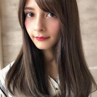 透明感カラー ロング コンサバ ハイライト ヘアスタイルや髪型の写真・画像
