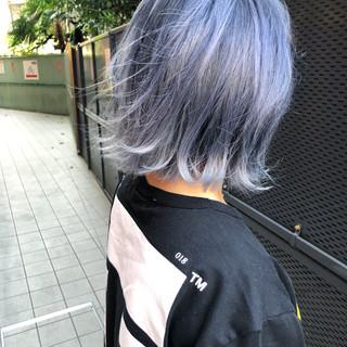 ストリート ボブ アウトドア 透明感 ヘアスタイルや髪型の写真・画像