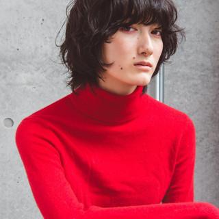 ウルフパーマ パーマ ショート モード ヘアスタイルや髪型の写真・画像