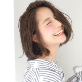 簡単ヘアアレンジ アンニュイほつれヘア デート モテボブ ヘアスタイルや髪型の写真・画像