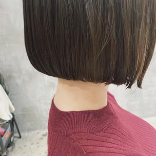黒髪 ミニボブ ショートボブ 切りっぱなしボブ ヘアスタイルや髪型の写真・画像