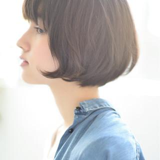 ショートボブ 外国人風 抜け感 暗髪 ヘアスタイルや髪型の写真・画像