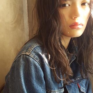 ヘアアレンジ 抜け感 ロング 前髪あり ヘアスタイルや髪型の写真・画像