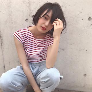 溝呂木麻里矢さんのヘアスナップ