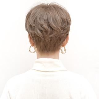 ハンサム ショート ナチュラル 大人かわいい ヘアスタイルや髪型の写真・画像