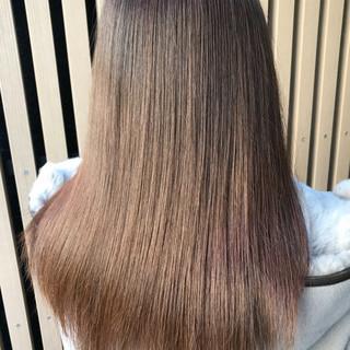 ロング ナチュラル 髪質改善 縮毛矯正 ヘアスタイルや髪型の写真・画像 ヘアスタイルや髪型の写真・画像