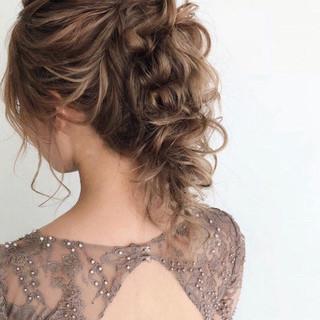 ゆるナチュラル 結婚式ヘアアレンジ ヘアアレンジ 大人かわいい ヘアスタイルや髪型の写真・画像