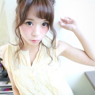 セミロング 簡単ヘアアレンジ 大人かわいい フェミニン ヘアスタイルや髪型の写真・画像