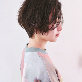 ベリーショート ショートヘア ハンサムショート ストリート ヘアスタイルや髪型の写真・画像
