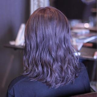 モテ髪 ストリート アッシュ ミディアム ヘアスタイルや髪型の写真・画像