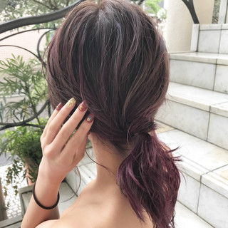 外国人風 ハイライト ピンク デート ヘアスタイルや髪型の写真・画像
