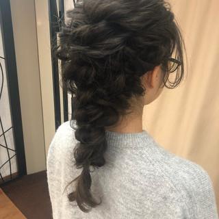 結婚式 ロング ナチュラル ヘアアレンジ ヘアスタイルや髪型の写真・画像