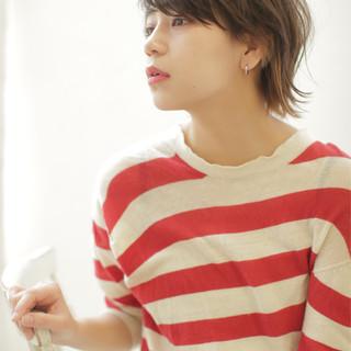 ブラウン 大人かわいい アッシュ 外国人風 ヘアスタイルや髪型の写真・画像