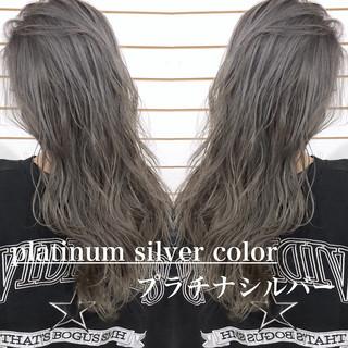ストリート 外国人風カラー グラデーションカラー ダブルカラー ヘアスタイルや髪型の写真・画像