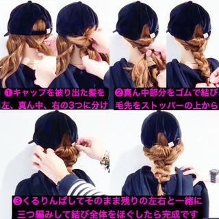 スポーツ フェミニン アウトドア 簡単ヘアアレンジ ヘアスタイルや髪型の写真・画像