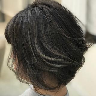 ナチュラル ボブ ハイライト 大人女子 ヘアスタイルや髪型の写真・画像