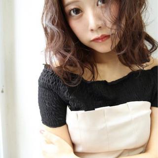 外国人風 セミロング ヘアアレンジ 大人女子 ヘアスタイルや髪型の写真・画像