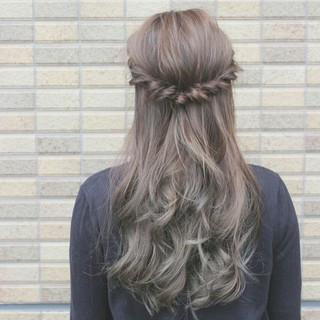 ロング 大人かわいい グラデーションカラー 外国人風 ヘアスタイルや髪型の写真・画像