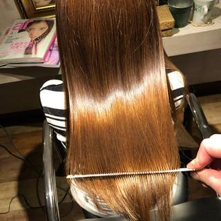 縮毛矯正 ナチュラル 美髪 髪質改善カラー ヘアスタイルや髪型の写真・画像