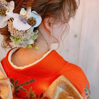 ゆるナチュラル 卒業式 和装ヘア 大人女子 ヘアスタイルや髪型の写真・画像