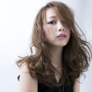 フェミニン アンニュイ デート ロング ヘアスタイルや髪型の写真・画像
